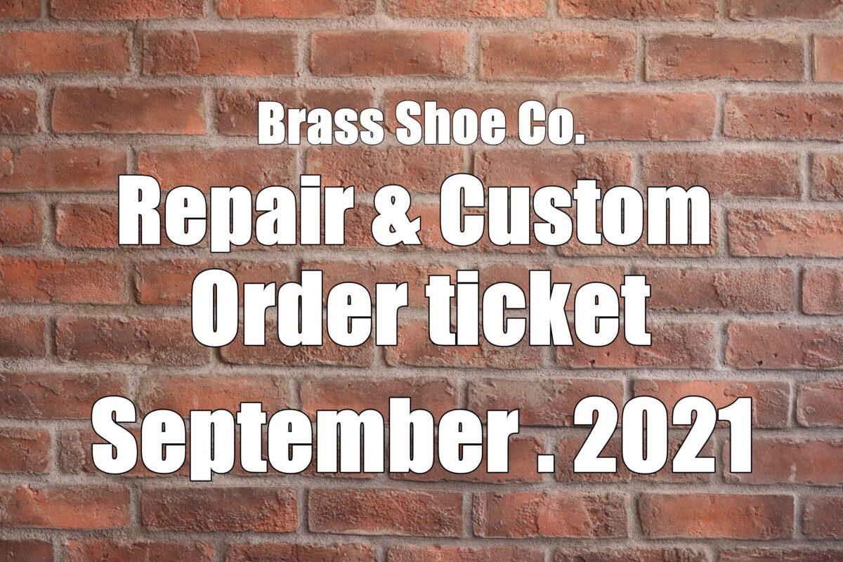 BSC Repair & Custom  Order Ticket